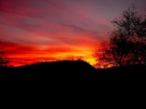 Sunset at Cedar Valley Resort.