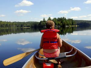 Canoeing at Buffalo Point Resort.