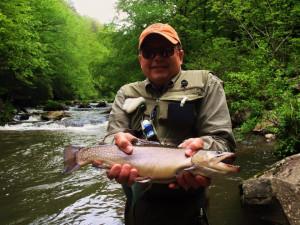 Fishing at Great Smokys Cabin Rentals.