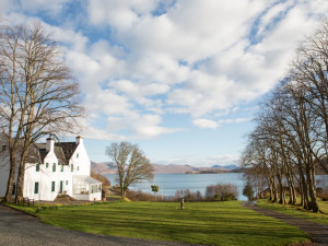 Exterior view of Kinloch Lodge.
