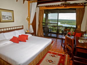 Guest room at Paraa Safari Lodge.