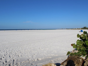 The beach at Gulfview Manor Resort.