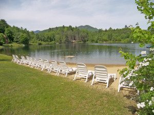 The beach at Loon Reservation Service.