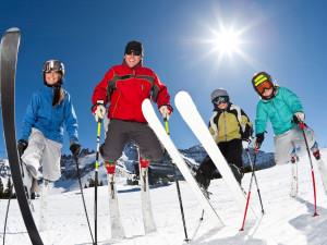 Skiing at The Inn at Jackson Hole.