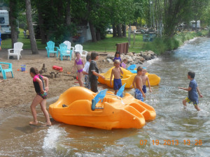 Water activities at Train Bell Resort.