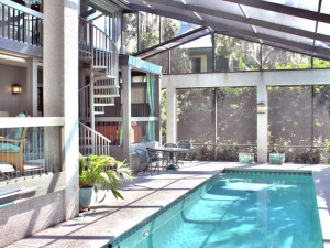 Villa pool at The Villas of Amelia Island Plantation.
