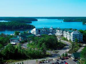 Aerial view of JW Marriott The Rosseau Muskoka Resort & Spa.