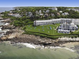 Aerial view of Beachmere Inn.