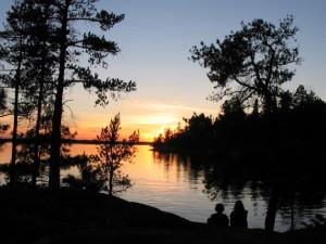 Beautiful lake sunset on Ash-Ka-Nam.