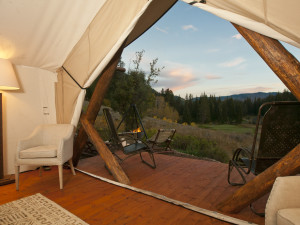 Yurt view at Cabin and Company.