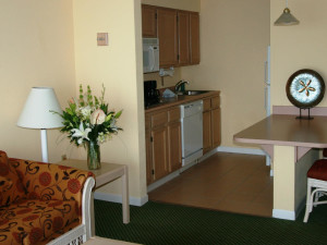 Guest kitchen at Hampton Inn & Suites Islamorada.