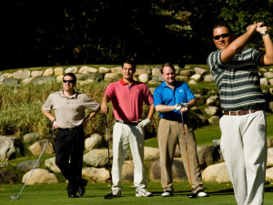 Group playing golf at Garland Lodge & Resort.
