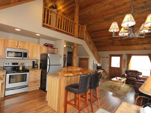 Cabin interior at Glacier Park Vacation Rentals.