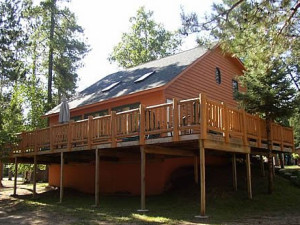 Cabin Exterior at Edgewood Resort