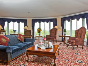 Guest suite at The Inn at Pocono Manor.