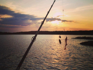 Evening fishing at  Angle Outpost Resort & Conference Center.