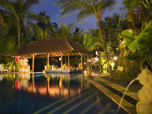 Outdoor pool at Bali Spirit.