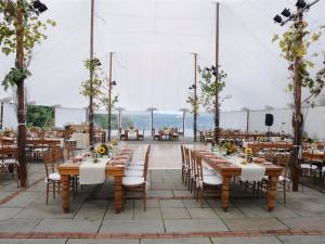Outdoor wedding reception at Buttermilk Falls Inn & Spa.