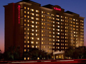 Exterior view of Dallas Marriott Suites Market Center.