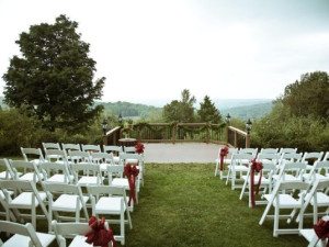 Wedding With view at The French Manor Inn.