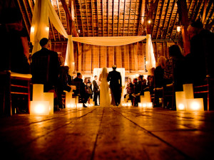 Wedding ceremonies at Gedney Farm.