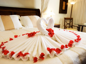 Romantic rooms at Honor's Haven Resort and Spa.