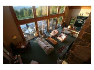 Vacation rental living room at Stowe Country Homes.