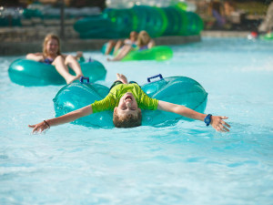 Dollywood's Splash Country lazy river near Timbers Lodge.