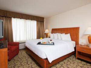 Guest room at Hilton Garden Inn St. Paul/Oakdale.