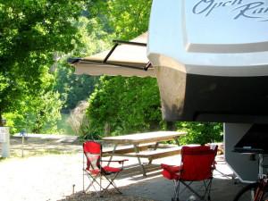 RV camping at Copper John's Resort.