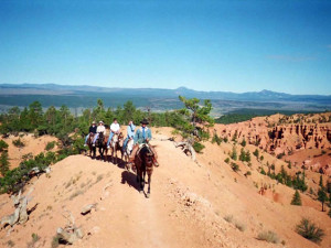 Horseback riding at Ruby's Inn.