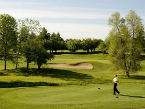 Golfing at Lakeview Hills Golf Resort.