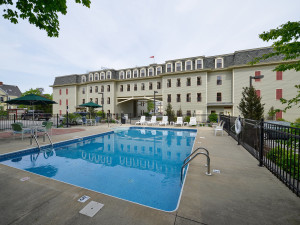 Outdoor pool at Bar Harbor Grand Hotel.