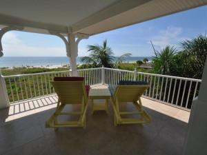 Rental deck at Lizzie Lu's Island Retreat.