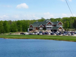 Exterior view of Hawk's Eye Golf Resort.