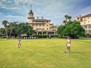Croquet at Jekyll Island Club Hotel.