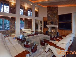 Rental great room at Utopian Palm Springs Vacation Homes.