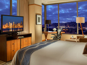 Guest Room at Pan Pacific Hotel Seattle