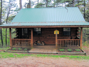 Cabin exterior at Cabin Fever Resort.