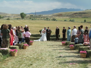 Wedding ceremony at K3 Guest Ranch.