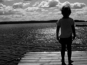The lake at Sandy Lane Resort.