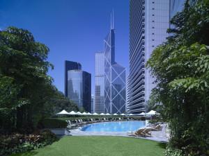 Outdoor pool at Island Shangri-La-Hong Kong.