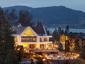 Exterior night view of Lake Okanagan Resort
