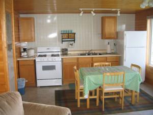 Cabin kitchen at Red Rock Resort.