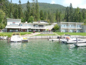 Exterior view of Many Springs Flathead Lake Resort.