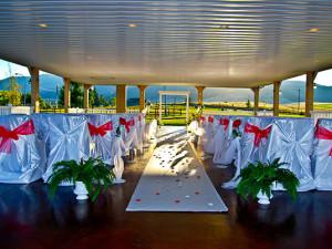 Outdoor Wedding Pavilion at Fairmont Hot Springs Resort.