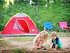 Family Camping at Smokey Hollow Campground