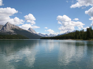 Lake near Maligne Lodge.
