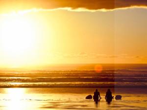 Beautiful sunsets at Long Beach Lodge Resort.