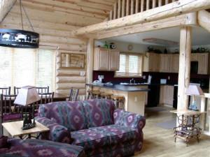 Cabin interior at Sand County Service Company - Bluff View.
